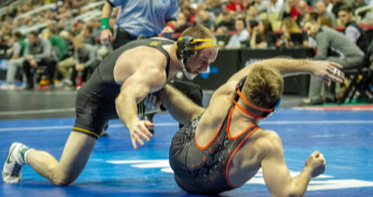 PSU, Iowa perfect in opening session; Stoll knocks off Parris