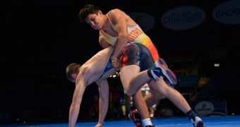 Amos named OW, Sharp wins Triple Crown at Cadet Greco Championships