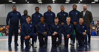 Greco-Roman World Team set, Coon upends Smith