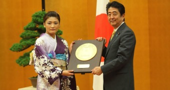 Four-time Olympic gold medalist Icho receives People's Honor Award in Japan