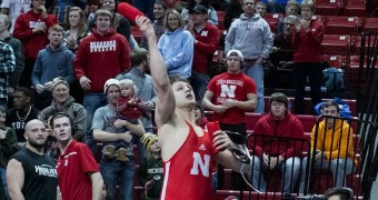 Jensen's pin highlights Nebraska's win over Illinois